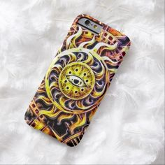 Sun God Temple Airbrush Art iPhone 6, Barely There Case by Wraithe Designs.