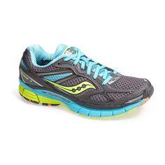 Saucony 'Guide 7' Running Shoe (Women) Blue/ Vizipink 7.5 M $120