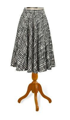 Blog: Teus vestidos - 4. Saia estampada, cetim de algodão sem strech