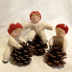 Waldorf Style Nisse Dolls by natsuko.m, via Flickr