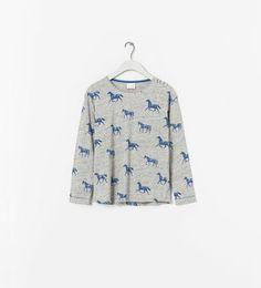 PRINTED T - SHIRT - T - shirts - Girl (2 - 14 years) - Kids   ZARA United States