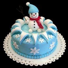Snehuliak , vianočné torty | Tortyodmamy.sk                                                                                                                                                      More