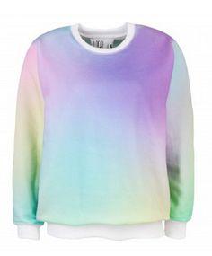 Rainbow Sweatshirt http://shop.nylon.com/collections/whats-new/products/rainbow-sweatshirt #NYLONshop