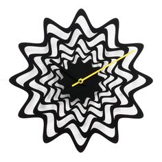 Designer modern high-end black wall clock made of painted steel.