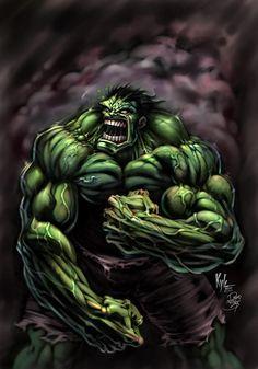 #Hulk #Fan #Art. (Power Hulk Digital Art) By: David Bollt. ÅWESOMENESS!!!™ ÅÅÅ+
