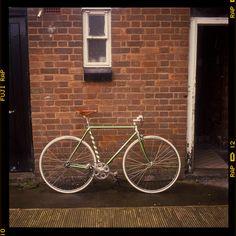 Green Mercian Vigorelli Bike