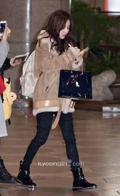 Cute Dara airport fashion