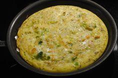 chicken, provolone, and broccoli egg bake