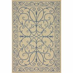 @Overstock - Add dignity and elegance to your outdoor scenery with this beige and blue rug. The curling lines depict floral patterns, all of which are made by synthetic fiber. This rug completes the setting and resists the wear and tear of nature.http://www.overstock.com/Home-Garden/Alexa-Outdoor-Indoor-Blue-Rug-9-x-12/7136294/product.html?CID=214117 $199.74