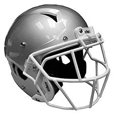 dbe2bf98 Schutt Adult Vengeance w/attached Titanium Facemask (X-Large Metallic  Silver w White TEGOP) (X-Large, Metallic Silver). Lo Sports · Football  Helmets
