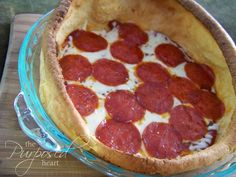 Puffy Pizza: A Twist on an Easy Recipe - This is quick and easy...we love the breakfast version too! You can use any toppings, but I normally stick to cheese and pepperoni. Also good to leave off the sauce and instead dip pieces into sauce.
