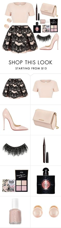 """...sweet..."" by sanela-enter ❤ liked on Polyvore featuring RED Valentino, River Island, Christian Louboutin, Givenchy, Illamasqua, Marc Jacobs, Pop Beauty, Yves Saint Laurent, Essie and Kenneth Jay Lane"