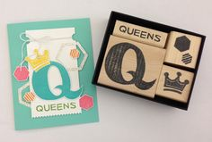Melody Hyde carved this stamp set for her upline group, The Queens of the Stamp Age.