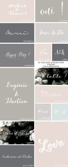 15 script and handwritten fonts --- great for invitations & weddings ♥ #epinglercpartager