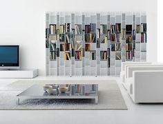 Random, Bibliothèque, blanc