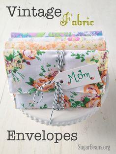 Vintage Fabric Envelopes