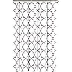 Harley Shower Curtain in Zinc
