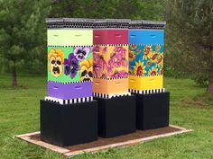 Image result for painted beehives