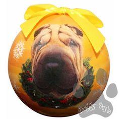 Shar Pei Shatterproof Dog Breed Christmas Ornament