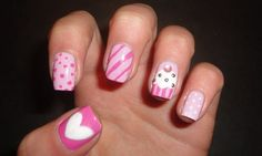 Cute nail designs with black nail polish - how you can do it at home. Pictures designs: Cute nail designs with black nail polish for you Cute Easy Nail Designs, Hot Nail Designs, Creative Nail Designs, Nail Polish Designs, Creative Nails, Nails Design, Pedicure Designs, Nail Designs For Kids, Easy Designs