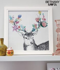 Flower Deer Wall Art - Aéropostale®