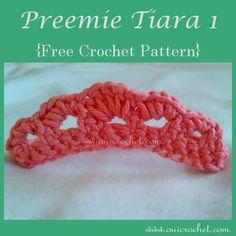 Preemie Tiara 1 {Free Crochet Pattern}