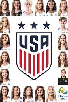 US Women's Olympic National Team 2016 – World Soccer News Usa Soccer Team, Us Soccer, Soccer News, Girls Soccer, Soccer Stars, Play Soccer, Team Usa, Soccer Players, A Team