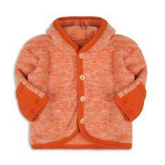 organic merino wool fleece baby coat by lana bambini   notonthehighstreet.com