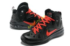 14c454421c51 Playoffs PE Black Lebron 9 PS Elite Red Ruby 516958 102 Lebron Shoes For  Sale