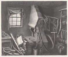Wanda Gág (American, 1893 - 1946) The Forge, 1932, lithograph in black on wove paper