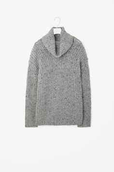 Oversize wool roll-neck