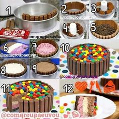Candy Cakes, Cupcake Cakes, Chocolate Lollies, Lolly Cake, Cake Recipes, Dessert Recipes, Cake Kit, Cake Decorating Tips, Ice Cream Recipes