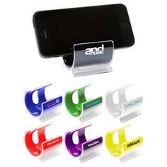 The Coloma Cell Phone Holder stay in front of your clients while helping them to keep their desks neat. Branded Promo, Office