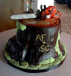 Logger wedding cake/birthday cake