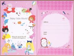 Kamio Fairy Tale World letter set with fairy tales