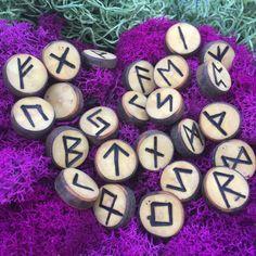 Maple Elder Futhark Rune Set from windfallen Maple! Heathen,Asatru,Viking,Pagan by NorseWorks on Etsy