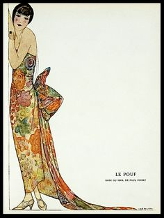 Le Pouf (Robe de Soir de Paul Poiret), From Gazette du bon genre, 1924