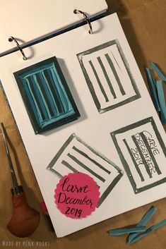 Day 4- ... just simple lines today; wanted to have an address stamp for envelopes or parcels. First time that I have worked with an x-acto knife. #CarveDecember;  #CarveDecember2019; check out: Balzer Designs: #CarveDecember 2019 #handcarvedrubberstamps; #handgeschnitztestempel; #diyrubberstamps;#linocut;#linolschnitt;#selbstgemachtestempel;#stempelselbermachen;#diystempel;#diystamps;#stempelselberschnitzen; #stampcarving; #stempelschnitzen;