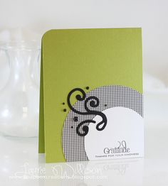 Laurie's great chartreuse, black, and white card
