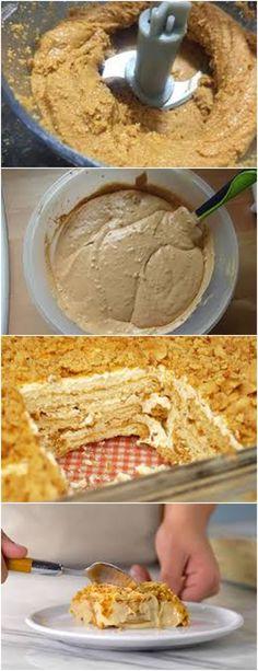 RECEITA PAVE DE AMENDOIM,SIMPLESMENTE MARAVILHOSA!!❤️ VEJA AQUI>>>Juntar a pasta de amendoim, levar ao fogo baixo e cozinhar até obter um creme espesso. #receita#bolo#torta#doce#sobremesa#aniversario#pudim#mousse#pave#Cheesecake#chocolate#confeitaria