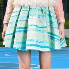 Lea Michele wearing Daizy Shely Spring 2015 Skirt