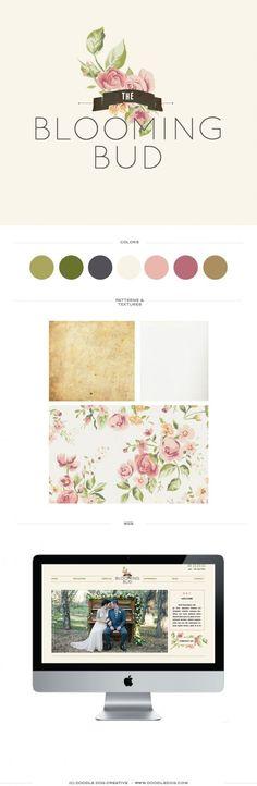 Logo and website Design - Blooming Bud - California Florist