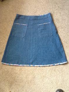 Simple A line skirt.