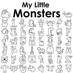 50 Little Monsters on Behance