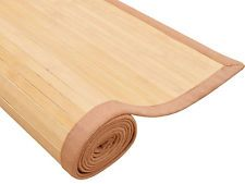 Natural Bamboo Wood Area Rug Non-Slip Floor Carpet Indoor Outdoor New Non Slip Flooring, Wooden Toys, Indoor Outdoor, Bamboo, Carpet, Rugs, Natural, Home Decor, Wooden Toy Plans