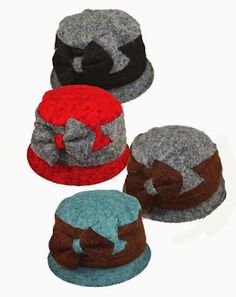 Wool Hat with Large Bow, in Brown, Black or Dark Green, $19.95, from Jeanne Simmons