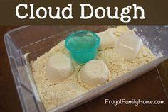This is a great kids craft, a recipe for Cloud Doughhttp://goo.gl/wBZDFn