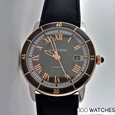 Mens Cartier Ronde Croisiere Steel & Rose Gold Automatic Date | discount watches for men Item ID: 300W110306 | 300watches