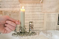 Silver Candle Match Thumb Holder Light the Path by thescreenporch