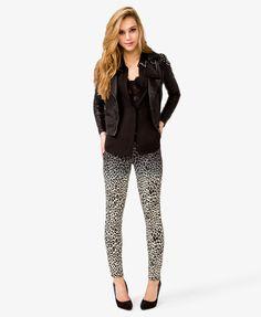 Leopard Ombré Skinny Jeans @Karinita Itzel apenas subiste una foto con unos como esos no?